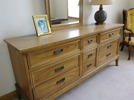 Nice clean lines 9 drawer dresser