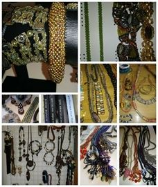 Amazing Jewlery Making Supplies, Beads, Findings as well as completed items from artists personal collection