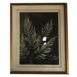"""""""Exotic Ferns"""" signed and numbered Lithograph"""