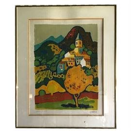 "Guy Charon, Artist's Proof of ""Aut en Provence"" Lithograph"
