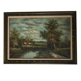 Country Landscape, Oil on Canvas