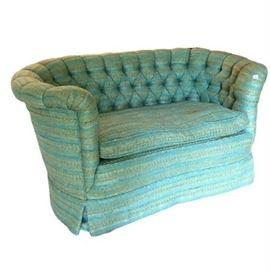 Mid-Century Chesterfield Style Love Seat