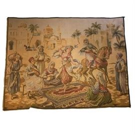 Vintage Belgium Woven Tapestry