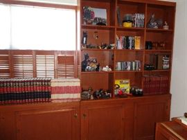 BOOKCASES, BOOKS, CDS, CASSETTES AND OTHER ITEMS
