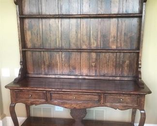 Walter EvSmith 7' Wood Bakers Hutch