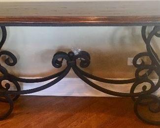 Sofa Table w/ Wrought Iron base