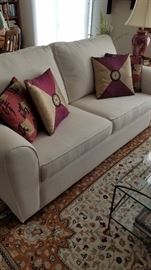 Neutral Tone Sofa....which just happens to be a sleeper! Top Name Brand.