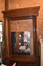 Oak Hall Mirror - Mirror taken out for transport