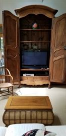 Used as an entertainment center