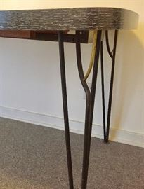 Close up of kitchen table legs