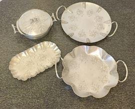Aluminum serving dishes
