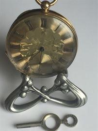 19th c. 18k Case Pocket Watch 'M. J. Tobias'