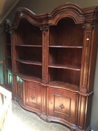 19th c. 3pc. Walnut Cabinet