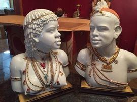 DECO Nubian Sculptures