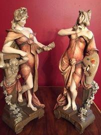 Pair 19th c. Porcelain Sculptures 'Ernest Wahliss'