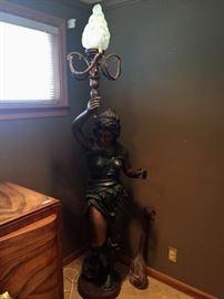 Bronze Figural Torchiere 7'h