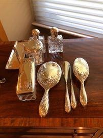 Silver 10 pc Vanity Set