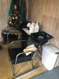 salon sink and chairs