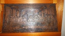 VINTAGE COPPER EMBOSSED ....THE LAST SUPPER