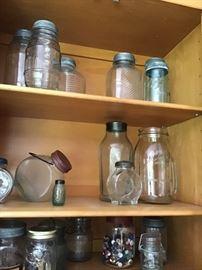Vintage Jars; Buttons