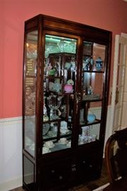Rosewood curio cabinet, outstanding