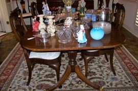 Dining room table, banded