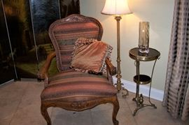 French chair, beautiful upholstery