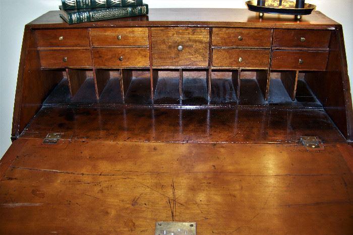 Interior of desk