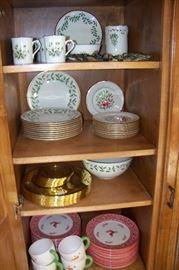 Lots of Christmas china