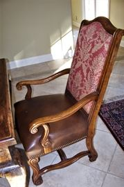 Set of 10 Country French chairs