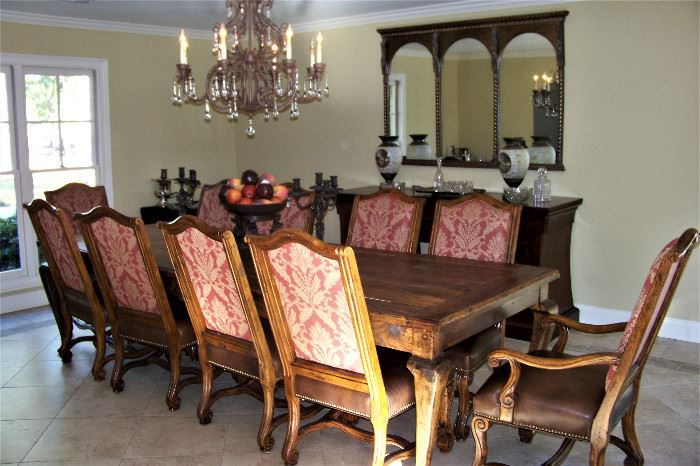 Dining room table, chairs