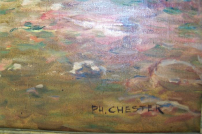 Signed P H Chester