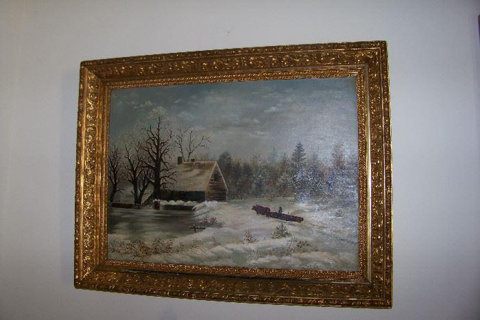 Painting on vanvas
