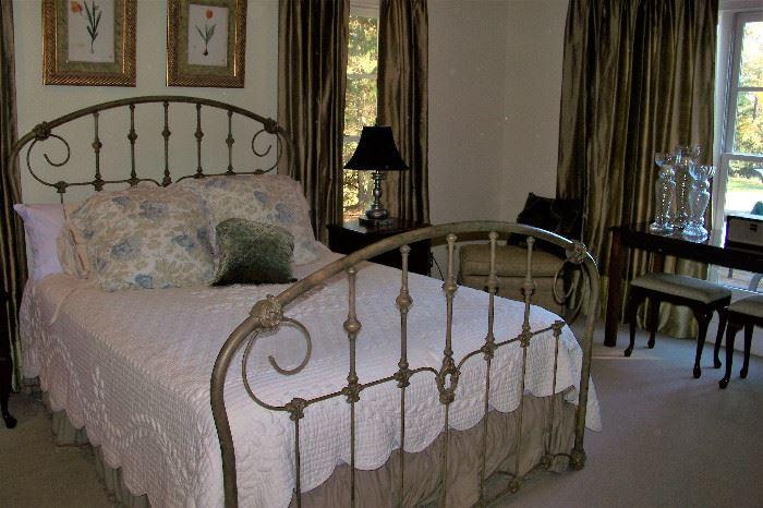 Gorgeous iron bed!