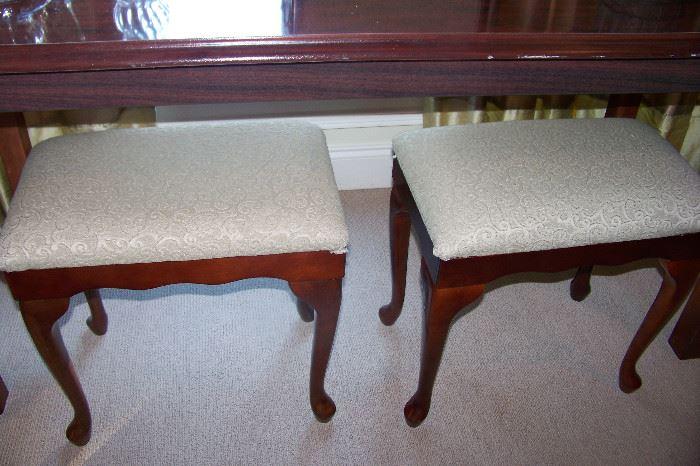 Pair Queen Anne stools