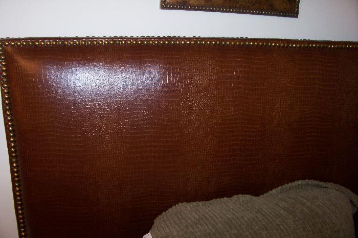 Leather headboards