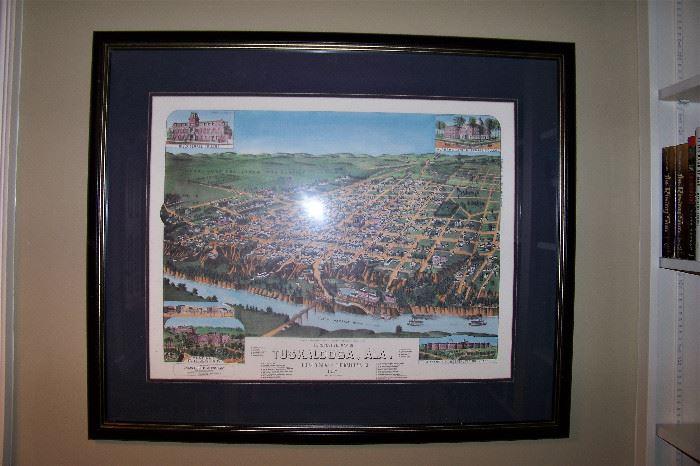 Early view of Tuskaloosa, Alabama, print