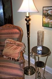 One of a pair, floor lamps