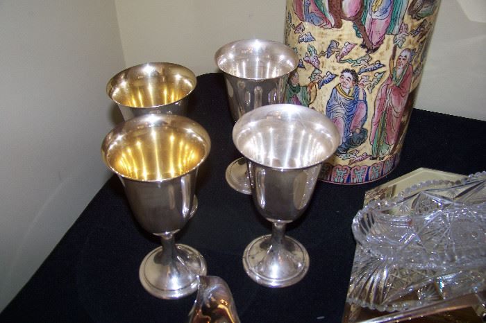 Sterling goblets