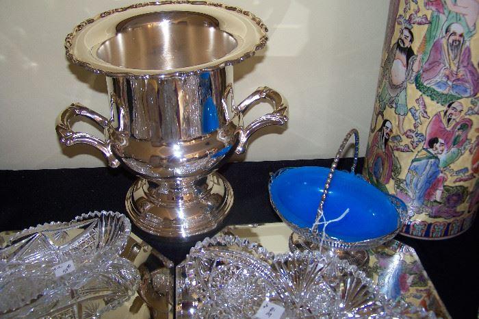 Silverplate champagne bucket
