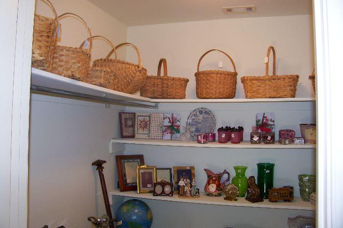 Assorted smalls in closet