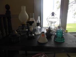 oil and kerosene lamps