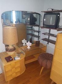 Heywood Wakefield Vanity & stool