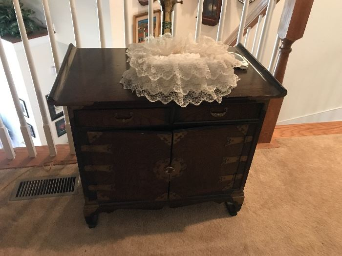 Asian inspired accent table