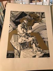 Signed Serigraphs by Endre Szasz- 6 total