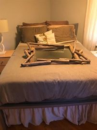 Bed is not only Heavenly but is Equipped with Foam Topper and 100% linen bed skirt from Australia!