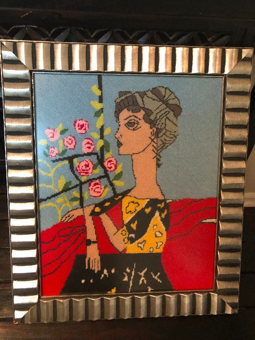Picasso needlepoint art.