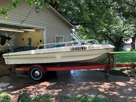 17' Evinrude Boat with Evinrude Trailer