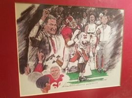 Framed, artist proofed Alabama print by Donald Williams