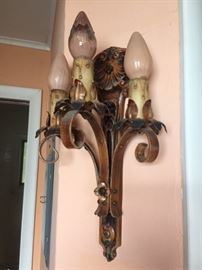 Super cool gothic style wall sconce